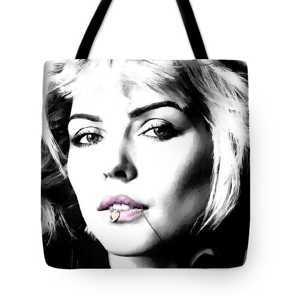 Blondie Large Size Portrait Tote Bag