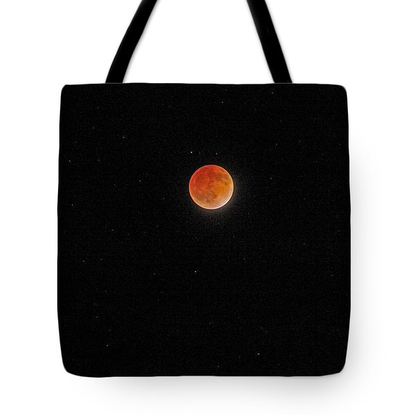 Tote Bag featuring the photograph Blood Moon And Stars by Martin Konopacki