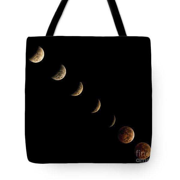 Blood Moon Tote Bag by James Dean