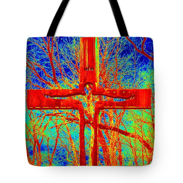 Tote Bag featuring the photograph Blood On The Cross by Cathy Shiflett