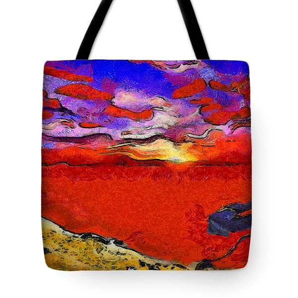 Blood River Tote Bag by George Rossidis