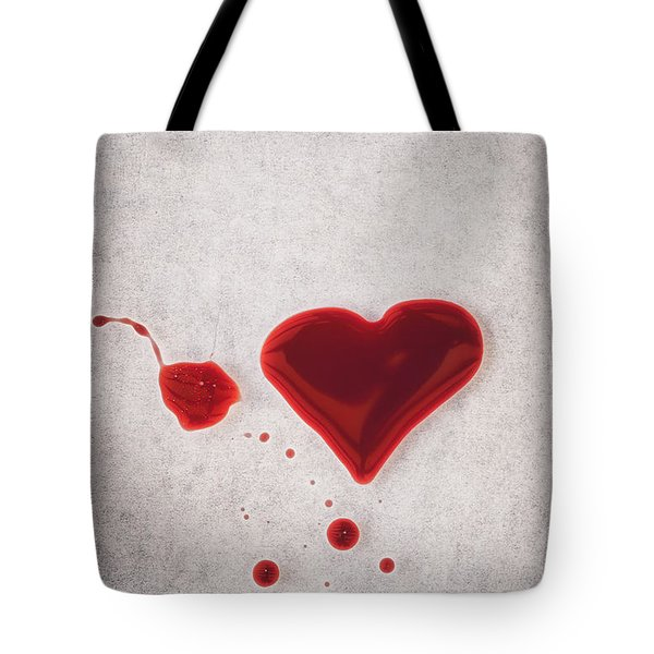 Bloody Heart Tote Bag
