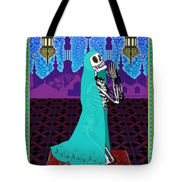 Bloody Islamic Mary Tote Bag by Tammy Wetzel