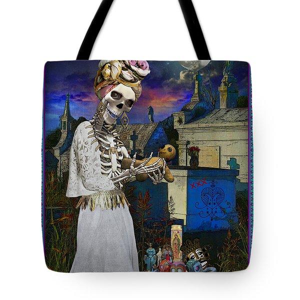 Bloody Marie Laveau Tote Bag by Tammy Wetzel