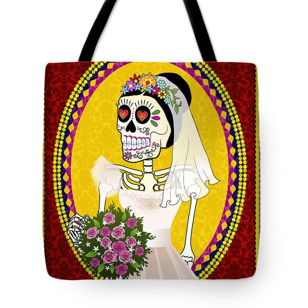 Bloody Married Tote Bag by Tammy Wetzel