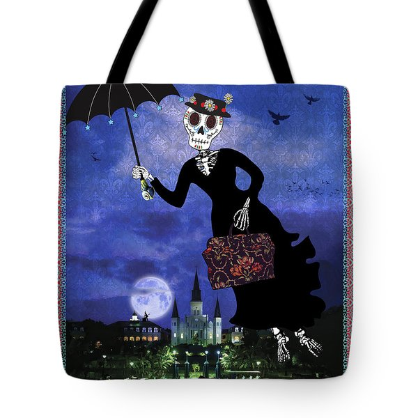 Bloody Mary Poppins Tote Bag by Tammy Wetzel