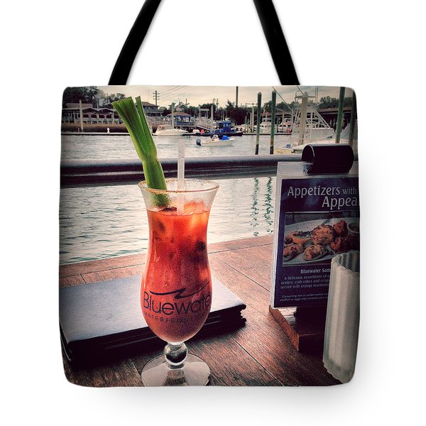 Bloody Mary With A View Tote Bag by Phil Mancuso