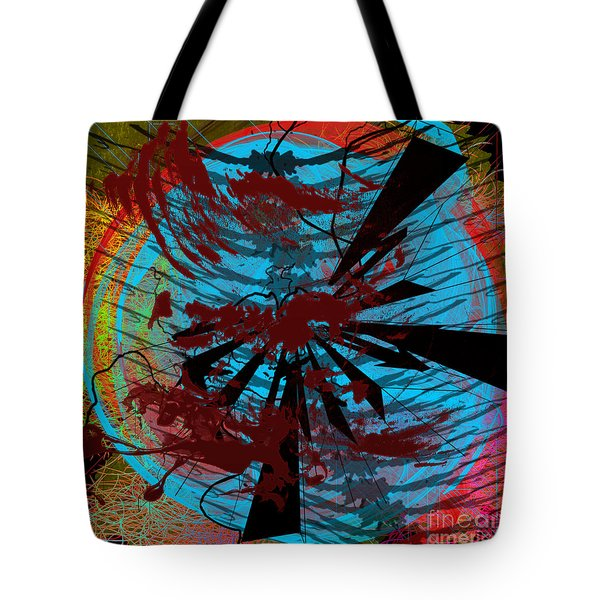 Tote Bag featuring the digital art Bloody Mess by Clayton Bruster