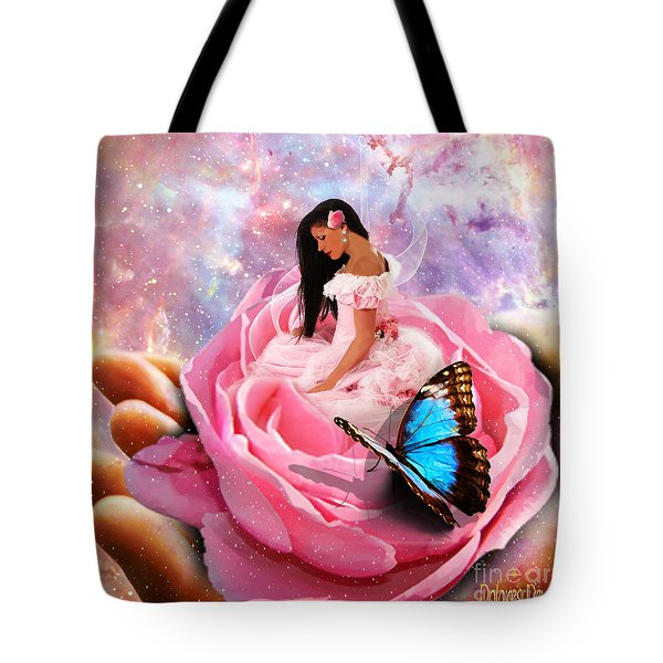 Bloom In The Hand Of The Father Tote Bag by Dolores Develde