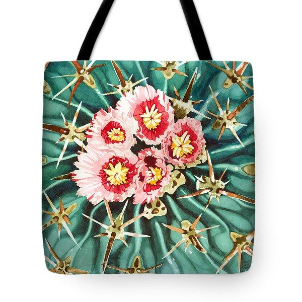 Bloomin' Horse Crippler Cactus Tote Bag