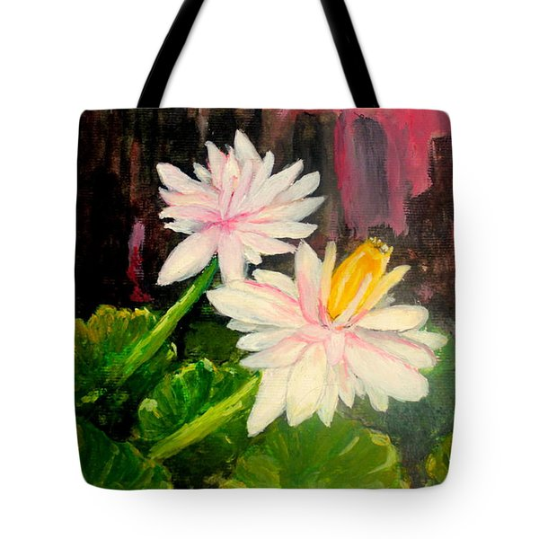 Blooming At Night  Tote Bag