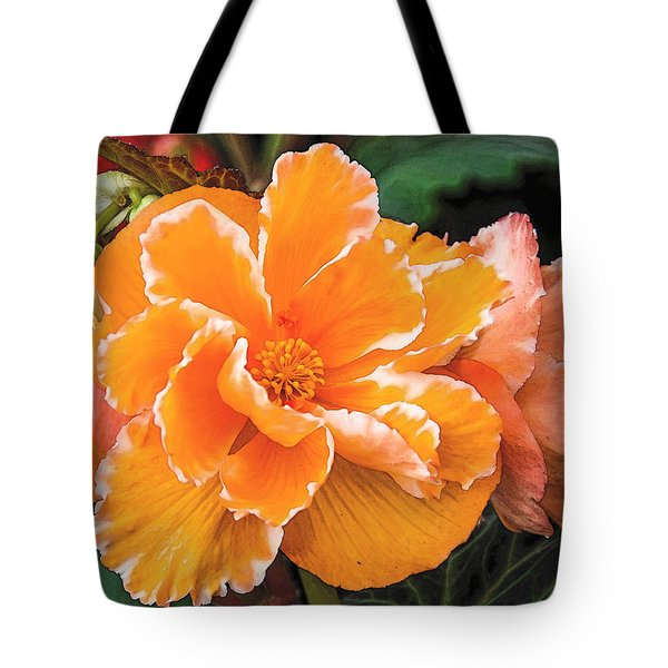 Blooming Begonia Image 1 Tote Bag