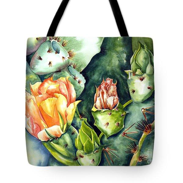 Blooming Cactus II Tote Bag