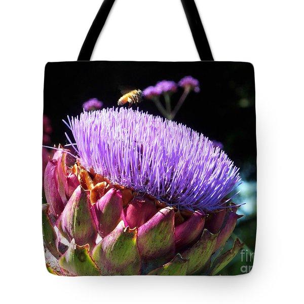 Blooming 'choke Tote Bag by Kathy McClure