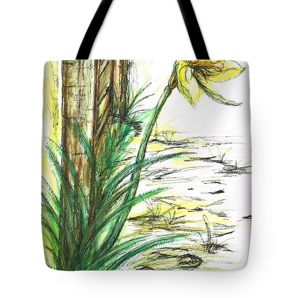 Blooming Daffodil Tote Bag