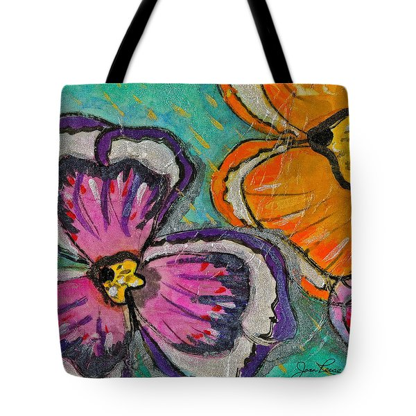 Tote Bag featuring the painting Blooming Flowers by Joan Reese