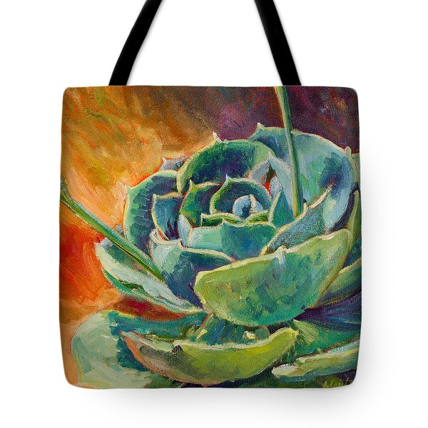 Blooming Hen Tote Bag