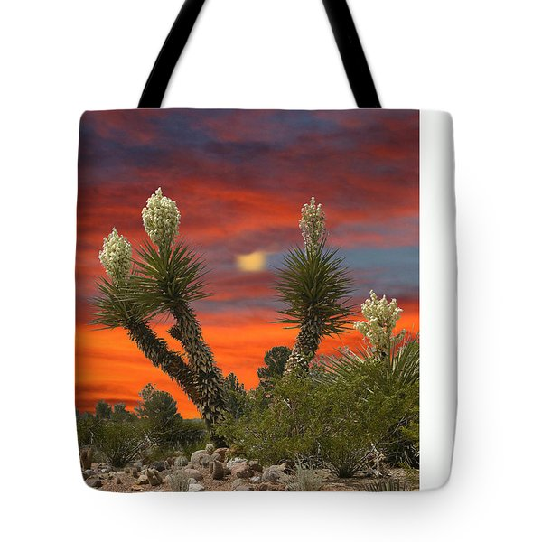 Full Blooming Yucca Tote Bag by Jack Pumphrey