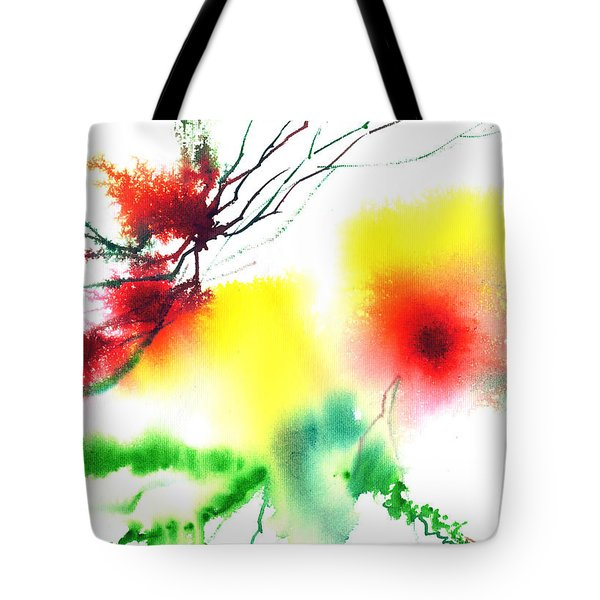 Blooms 3 Tote Bag by Anil Nene