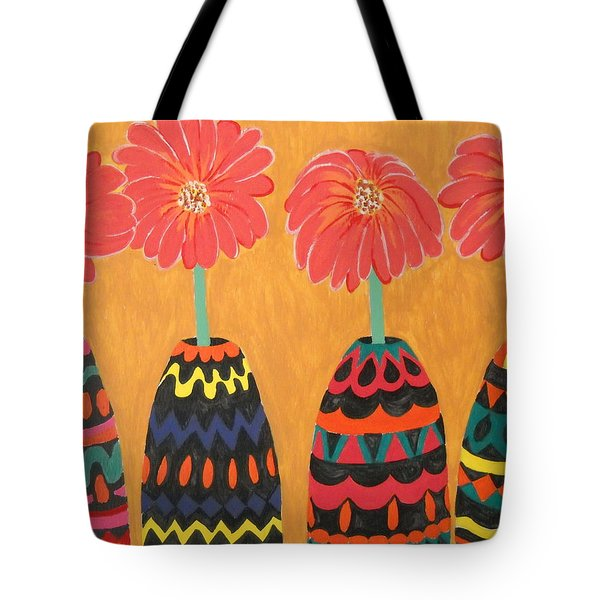 Blooms In Native Dress Tote Bag