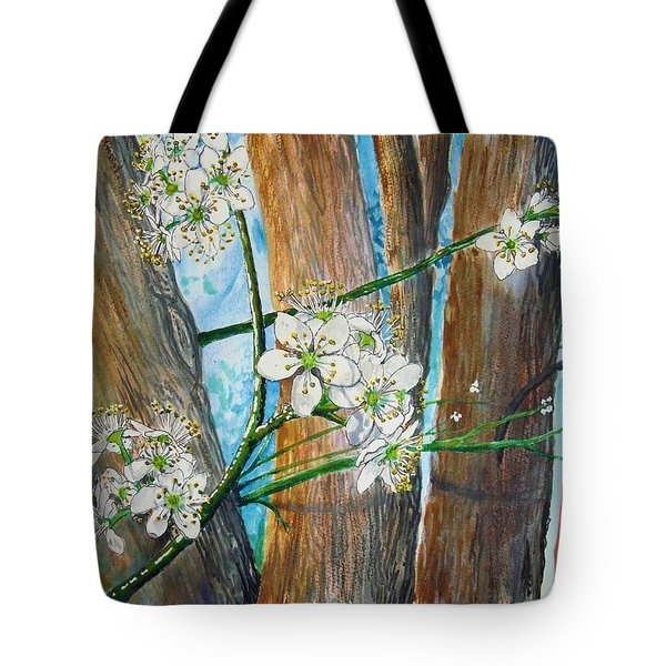 Blooms Of The Cleaveland Pear Tote Bag