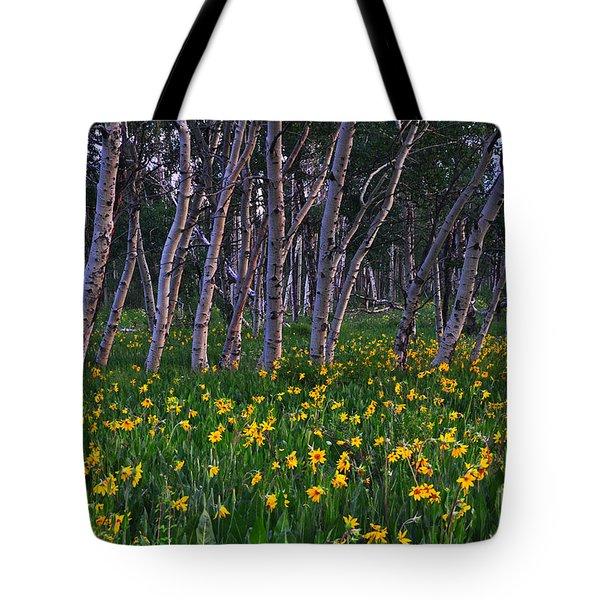 Bloooming Aspens Tote Bag