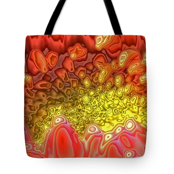 Tote Bag featuring the digital art Blossom Digital Workout 1 by Rudi Prott