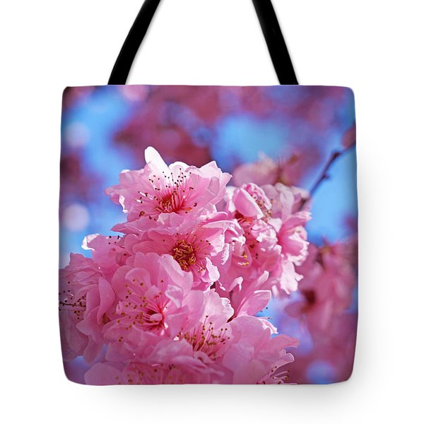 Blossom Flowers Trees Art Prints Tote Bag by Baslee Troutman