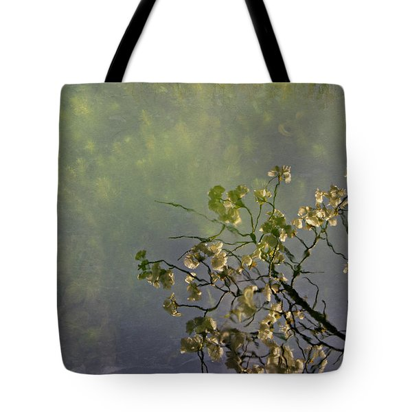 Tote Bag featuring the photograph Blossom Reflection by Marilyn Wilson