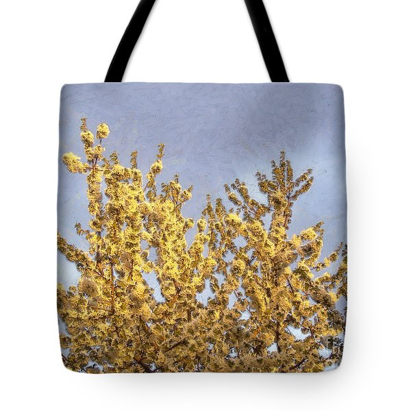 Blossoming Cherry Tree Tote Bag by Odon Czintos