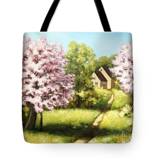 Blossoming Orchard Tote Bag by Inese Poga