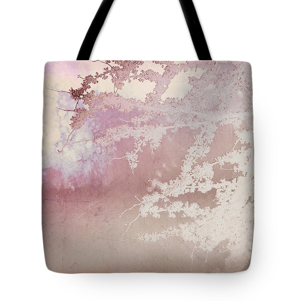 Blossoming Red Bud In Pink  Tote Bag by Ann Powell