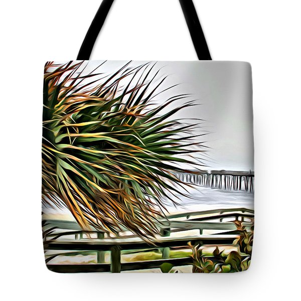 Blowin At The Beach Tote Bag