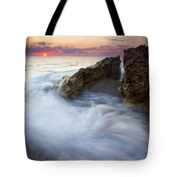 Blowing Rocks Sunrise Tote Bag by Mike  Dawson