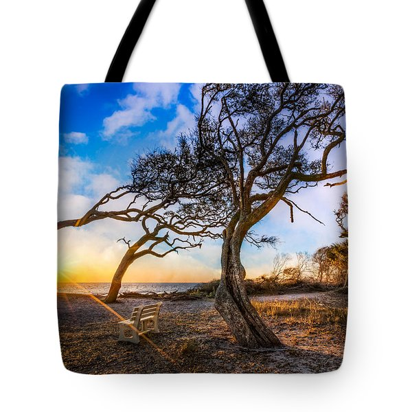 Blowing With The Wind Tote Bag by Debra and Dave Vanderlaan