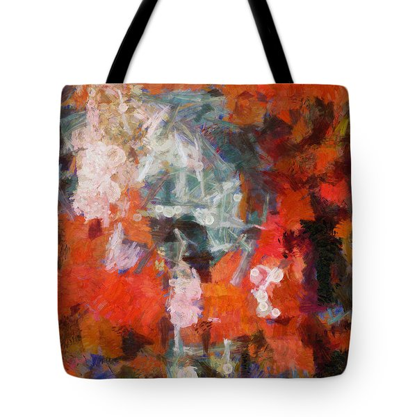 Tote Bag featuring the digital art Blows Away In The Wind by Joe Misrasi