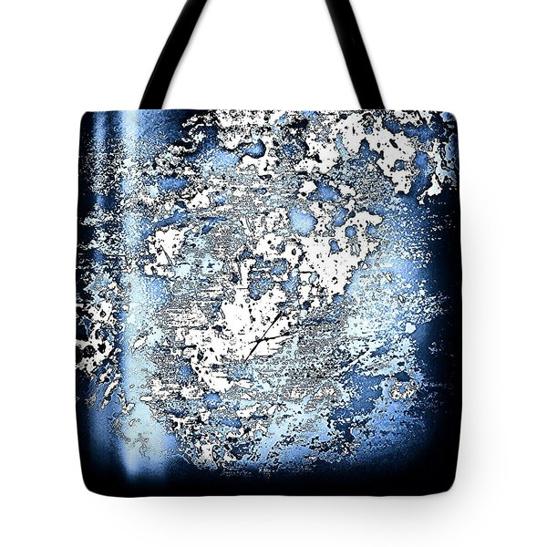 Blu Abstract Tote Bag