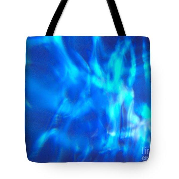 Blue Abstract 2 Tote Bag by Tony Cordoza