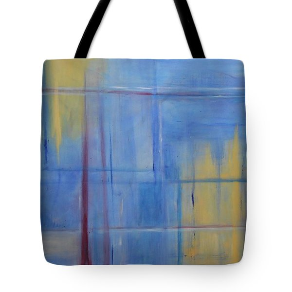 Blue Abstract Tote Bag by Jamie Frier