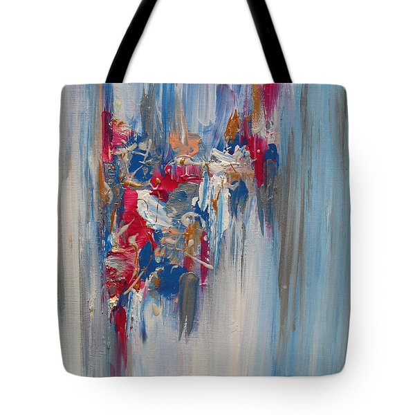 Blue Abstract Landscape Tote Bag
