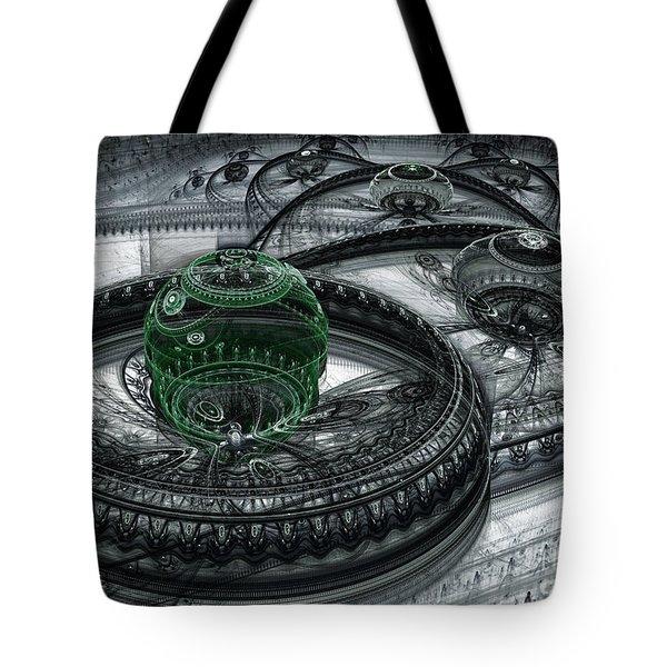 Dark Alien Landscape Tote Bag by Martin Capek