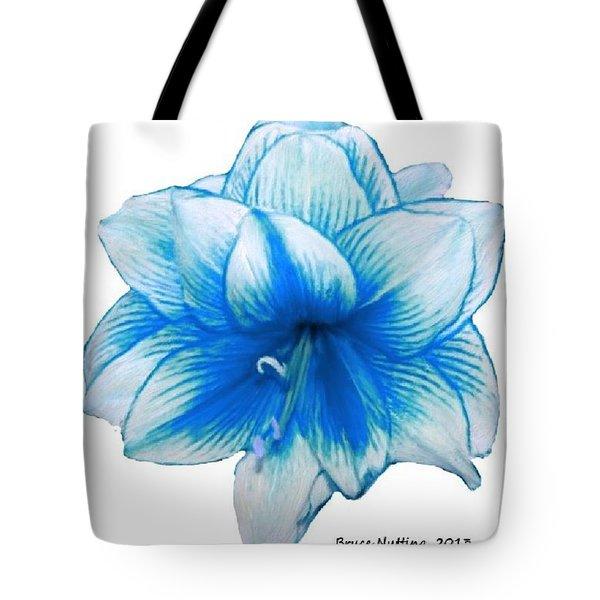 Blue Amaryllis Tote Bag