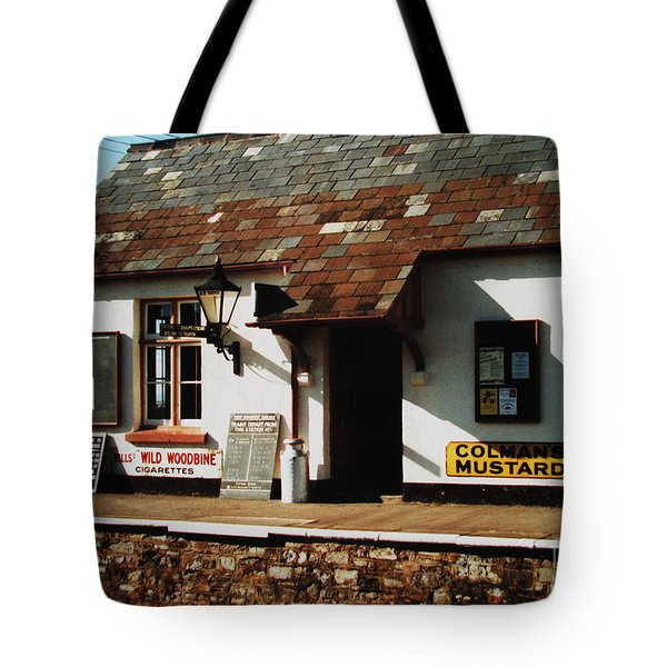 Blue Anchor Ticket Office Tote Bag by Martin Howard