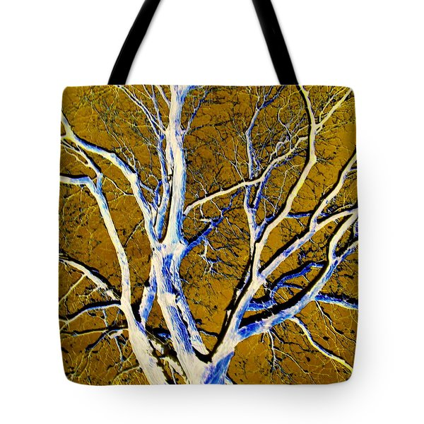 Tote Bag featuring the photograph Blue And Gold by Jodie Marie Anne Richardson Traugott          aka jm-ART