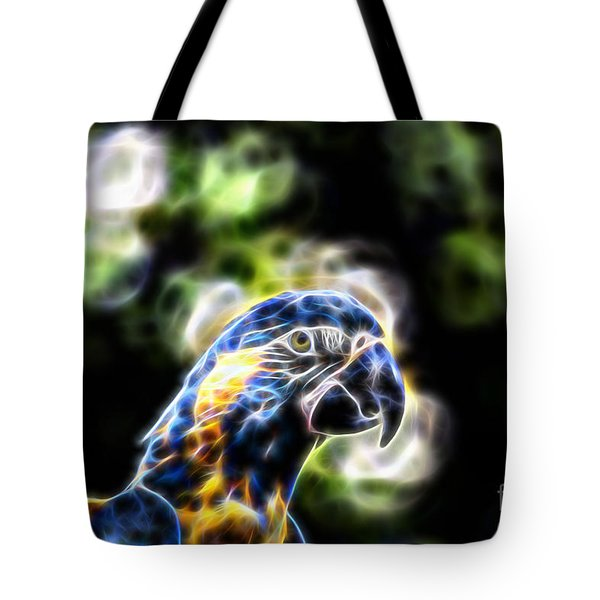 Blue And Gold Macaw V4 Tote Bag by Douglas Barnard