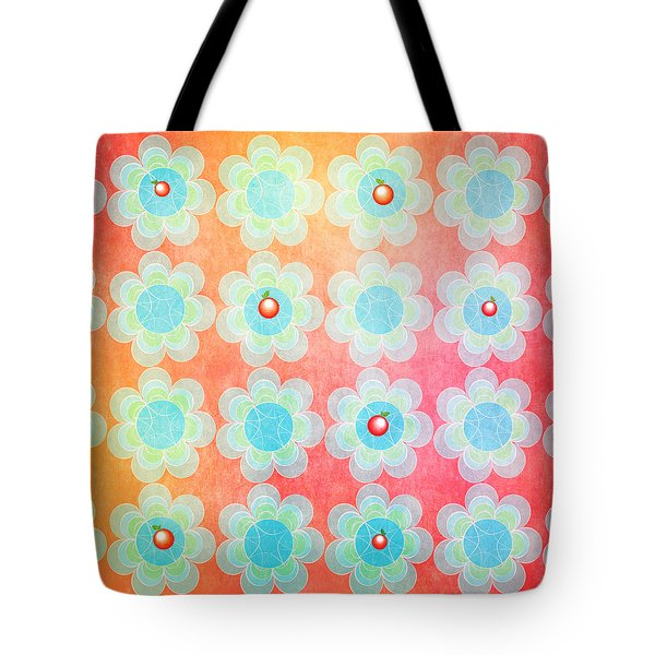Tote Bag featuring the drawing Blue And Green Jelly With Cherries On Top by Lenny Carter