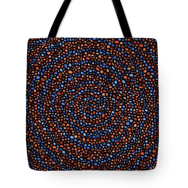 Blue And Orange Circles Tote Bag