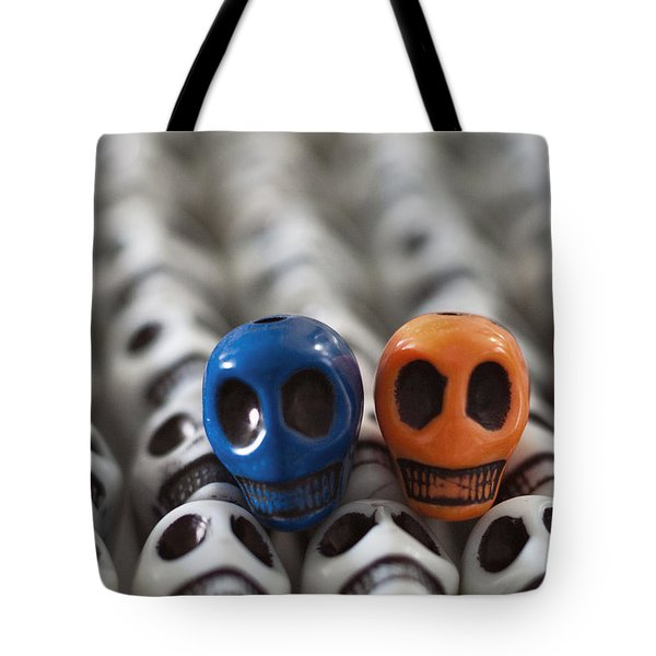 Blue And Orange Tote Bag by Mike Herdering