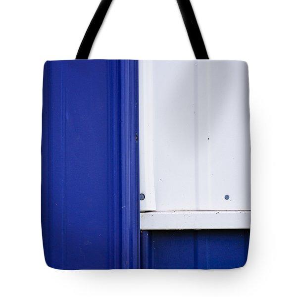 Blue And White Tote Bag by Christi Kraft