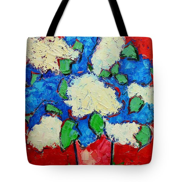 Blue And White Lilac Bouquet Tote Bag by Ana Maria Edulescu